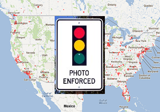 Red Light Cameras Photo Enforced Intersections In The US - Us lights map